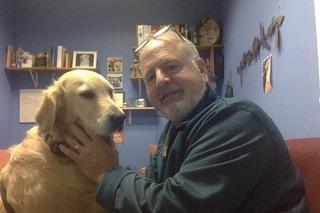 Jonathan Kessler and his dog