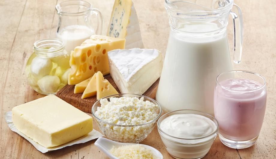 A collection of dairy products