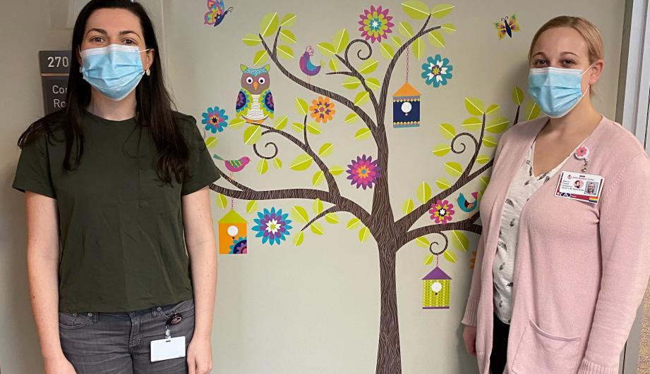 Joslin Child Life Specialists Stephanie and Maura