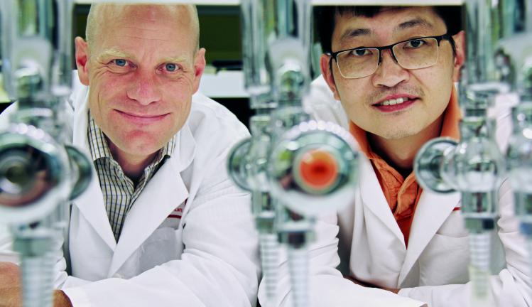 Dr. Kissler and Dr. Yi in Joslin Lab