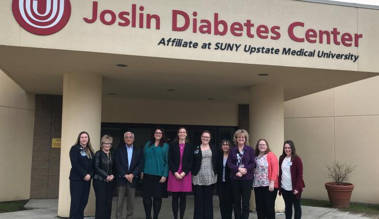Joslin Diabetes Center Advisory team affiliate site visit to Joslin Diabetes Center Affiliate at Upstate Medical University