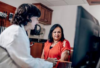 Dr. Halprin with Latino Patient